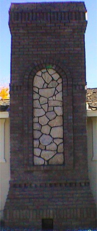 Brick and Stone Fireplacesm