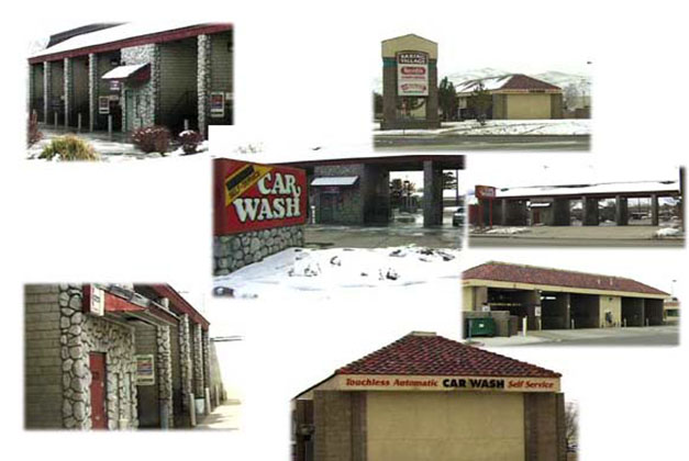 Reno Car Wash Buildings, Stone And Block Construction