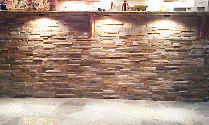 Stone Bar With Granite Top
